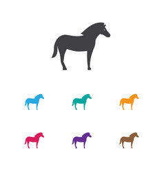 of zoology symbol on stallion vector image