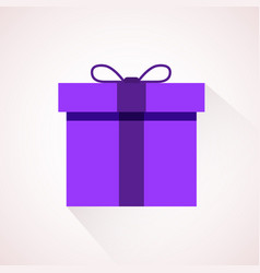 pink flat present box concept vector image vector image