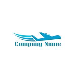 plane logo concept image logo design vector image