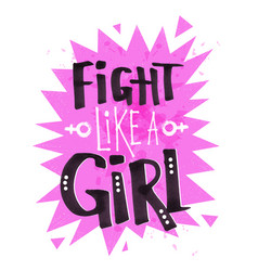 Poster with flight like a girl feminist slogan vector