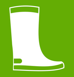 rubber boots icon green vector image