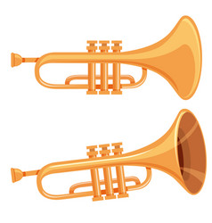 Set of trumpet on white background vector