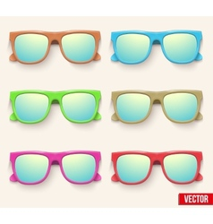 Set of Vintage Party sunglasses Retro style vector image