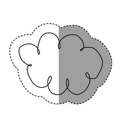Silhouette clound network service icon vector
