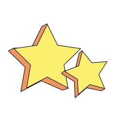 Stars galaxy universe icon cartoon vector