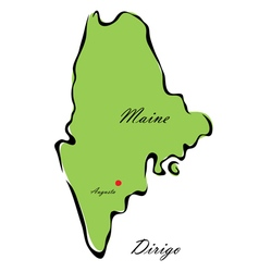 State of maine vector