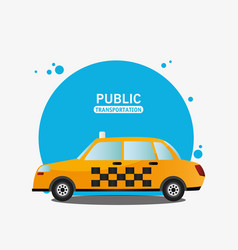Taxi car service public transport vector