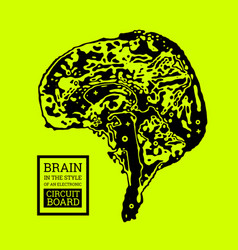 The brain is in the form of a topographic map or vector