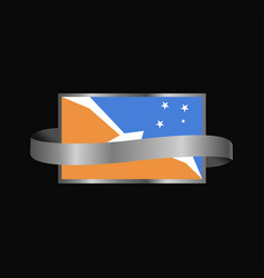 Tierra del fuego province argentina flag ribbon vector