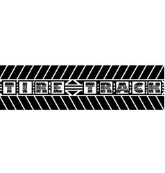 Tire track silhouette text vector