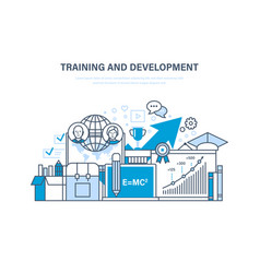 training and development distance learning vector image
