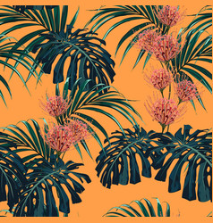 tropical exotic plants seamless pattern vector image