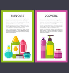 Two cosmetic skin care banners vector