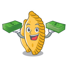 With money bag pastel mascot cartoon style vector