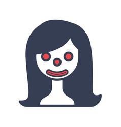 Woman halloween logo icon design vector