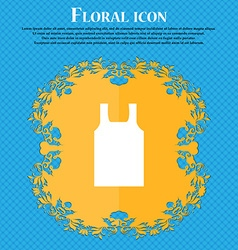 Working vest icon sign Floral flat design on a vector