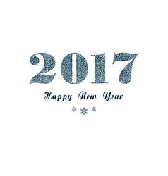 Blue new year background vector