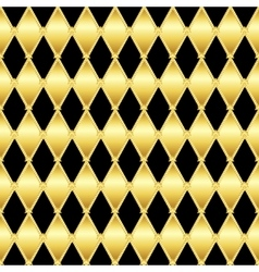 Gold glittering seamless pattern of triangles vector image
