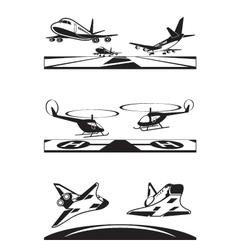Air transportation set vector image