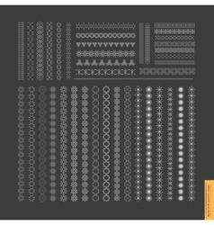 Big Set of minimal geometric monochrome shapes vector image vector image