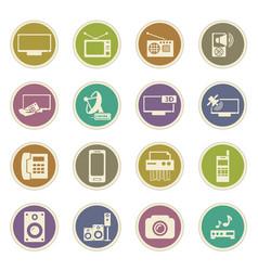 Home appliances icons set vector