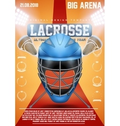 Poster Template of lacrosse sports vector image vector image