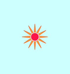 sun sign on blue background vector image vector image
