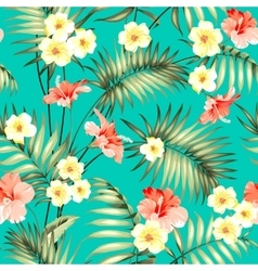 Tropical fabric design vector image vector image