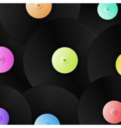 vinyl records background vector image