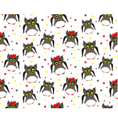 adult owls with dotted backgroun vector image vector image