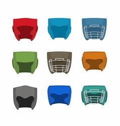 Boxing helmet set vector image