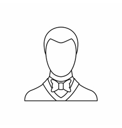Groom icon outline style vector image