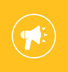 loudspeaker icon in circle megaphone bullhorn vector image