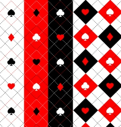 Poker seamless pattern set vector image vector image