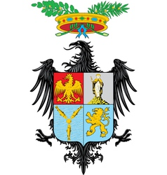 Province of Palermo vector image vector image