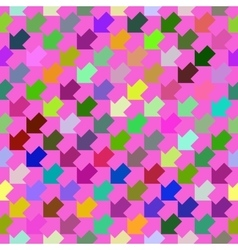 Abstract colorful geometric seamless pattern vector image