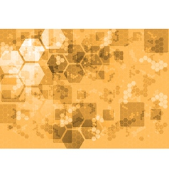 Abstract tech background with squares and hexagons vector image