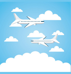 Airplane vehicle icon vector