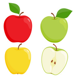 Apples on white background vector