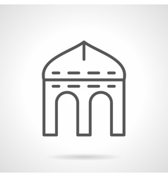 Arched arbor simple line icon vector