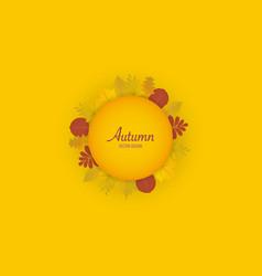 autumn leaves orange background vector image