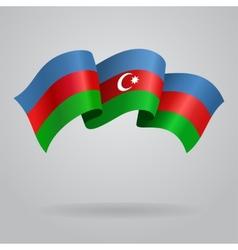 Azerbaijani waving Flag vector image