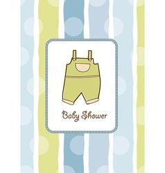 Baby boy shower aouncement vector