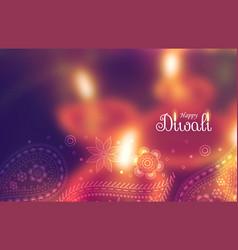 Beautiful happy diwali wallpaper with blurred vector