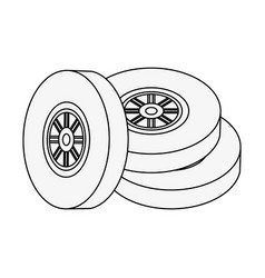car wheel tires vector image