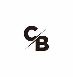 cb logo letter monogram slash with modern logo vector image