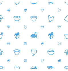 Chinese icons pattern seamless white background vector