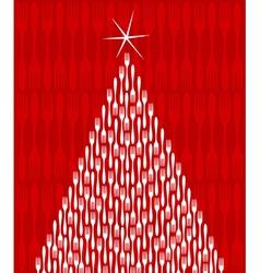 Christmas tree gourmet vector