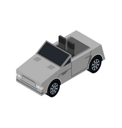 City cabriolet isometric 3d element vector