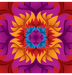 Colorful flower kaleidoscope vector